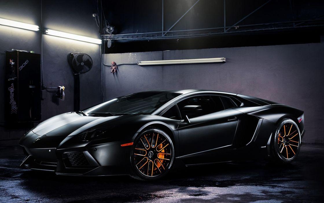 aventador  black  LP700-4  Lamborghini supercars wallpaper