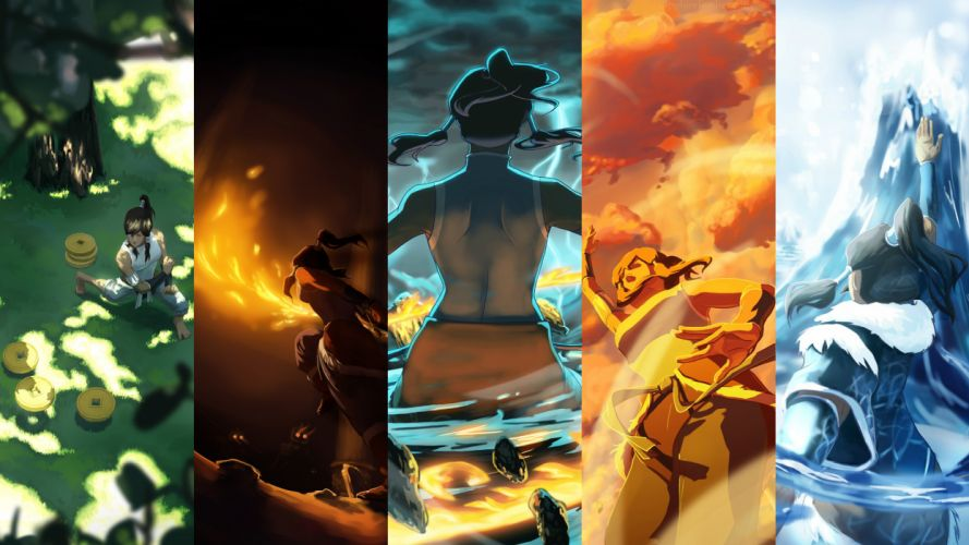 Avatar The Last Airbender panels collage wallpaper