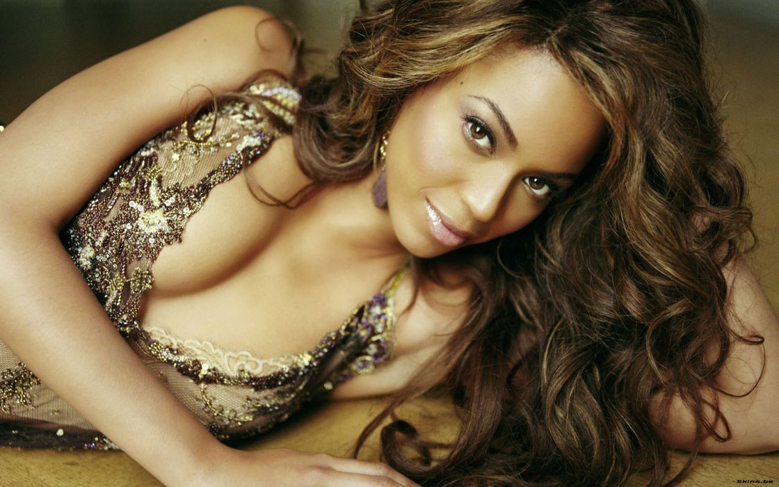 Beyonce Knowles hip hop singer musician women females girls sexy babes face eyes face cleavage wallpaper
