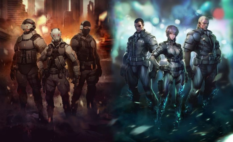 Ghost in the Shell Anime warriors wallpaper