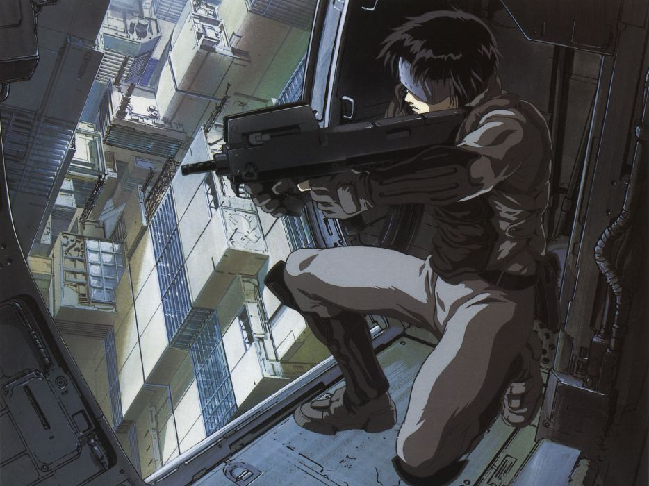 Ghost in the Shell Anime weapons guns wallpaper