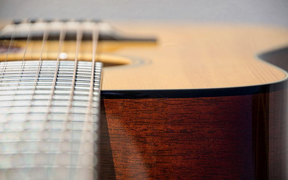 Guitar Macro strings wallpaper