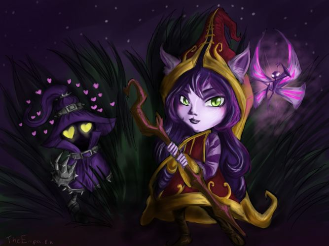 League of Legends Lulu Drawing fantasy wallpaper
