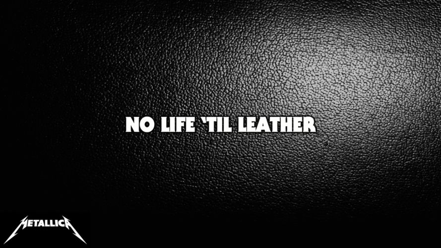 Metallica Black Leather texture heavy metal rock hard group band wallpaper