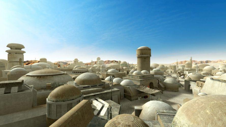 video games star wars sci-fi cities wallpaper