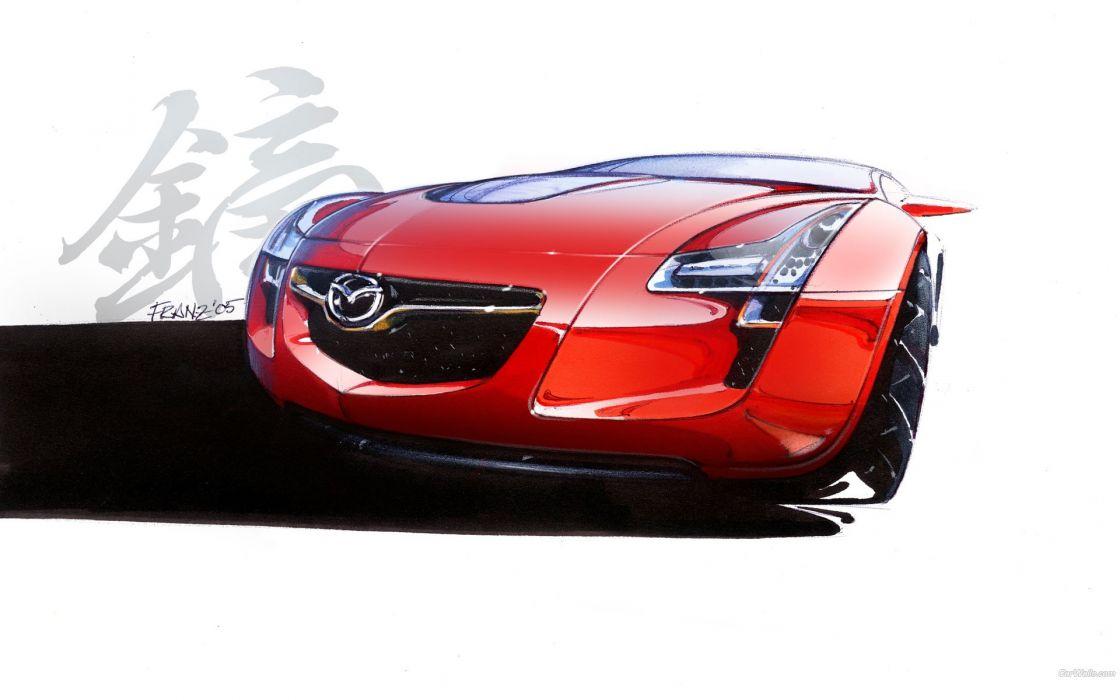 cars Mazda red cars wallpaper