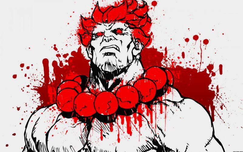 Street Fighter Gouki dark blood warrior wallpaper