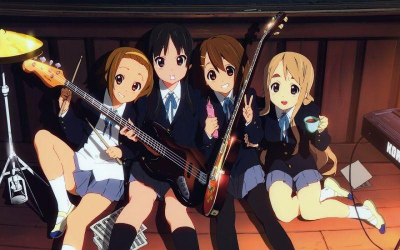 K-ON! school uniforms Hirasawa Yui Akiyama Mio Tainaka Ritsu Kotobuki Tsumugi wallpaper