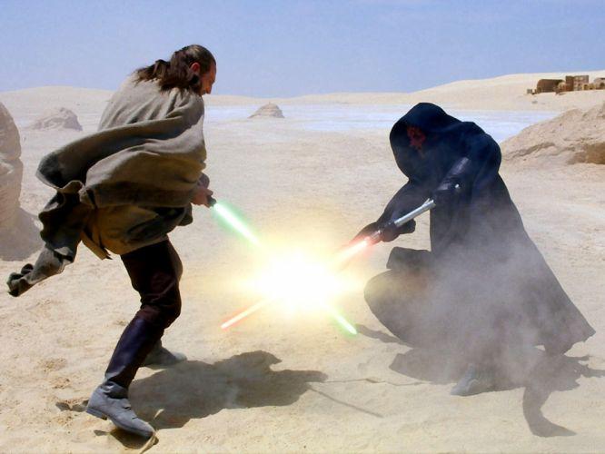 Darth Maul star wars sci-fi lightsaber jedi battle warriors movies wallpaper