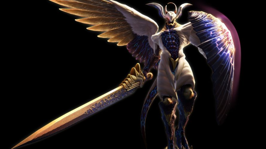 fantasy Devil May Cry angel warrior weapons sword wallpaper