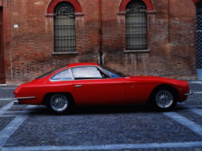 cars Lamborghini 350 GT supercars red wallpaper