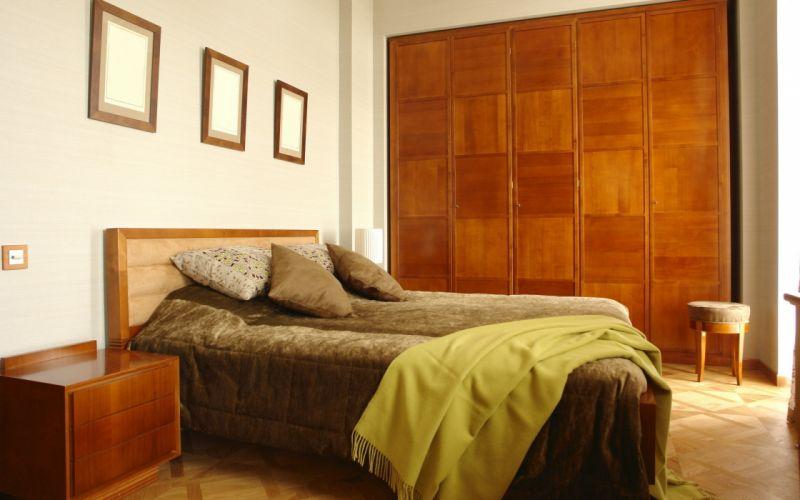 indoors architecture room beds wallpaper