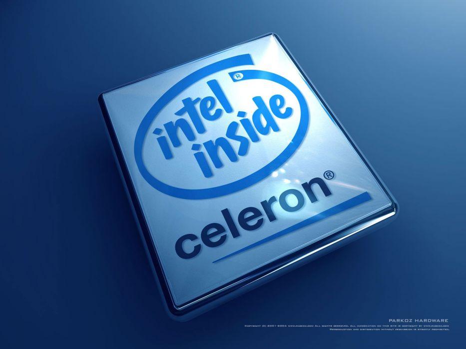Intel brands logos companies celeron wallpaper