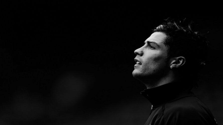 black and white Portugal grayscale Cristiano Ronaldo athletes football soccer wallpaper