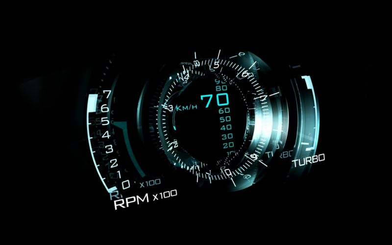 Saab neon lights speedometer wallpaper