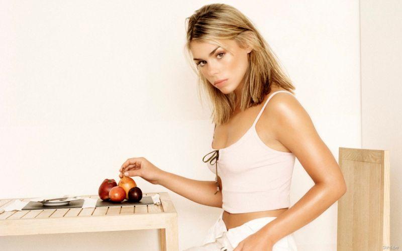 Billie Piper actress musician singer blondes women females girls sexy babes face eyes fruit wallpaper