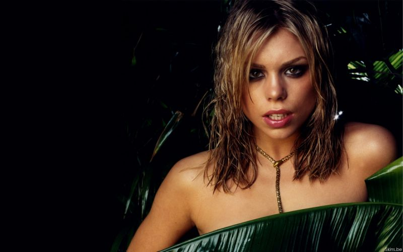 Billie Piper actress musician singer blondes women females girls sexy babes face eyes leaves wallpaper