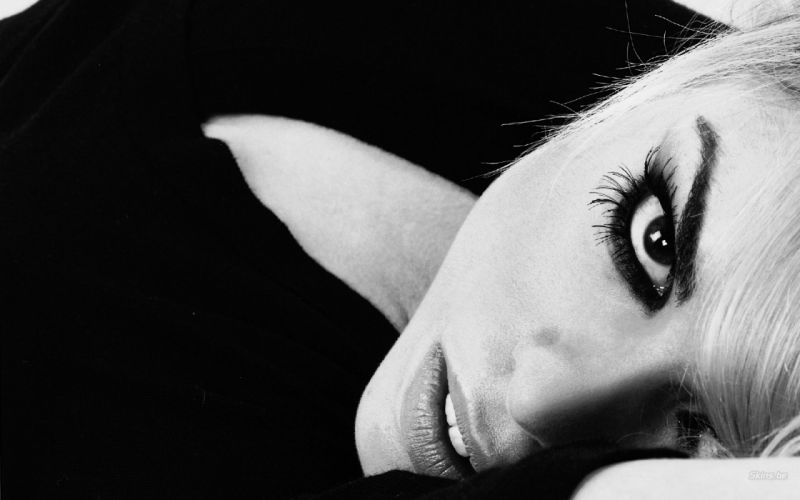 Billie Piper actress musician singer blondes women females girls sexy babes face eyes monochrome black white wallpaper