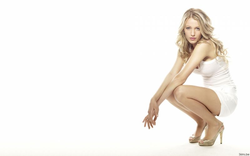Blake Lively actress model blondes women females girls sexy babes face eyes cleavage legs f wallpaper