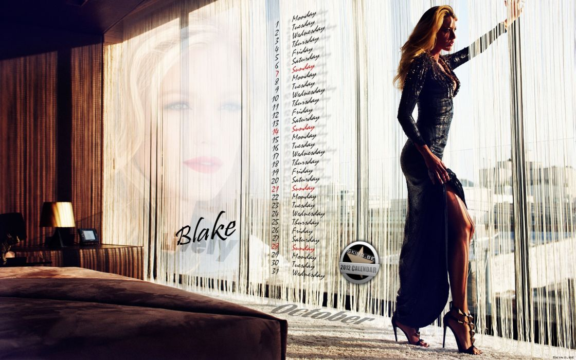 Blake Lively actress model blondes women females girls sexy babes face eyes window room interior mood wallpaper