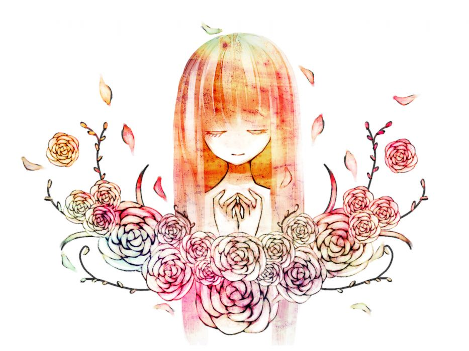 flowers long hair mirimo original petals rose white wallpaper