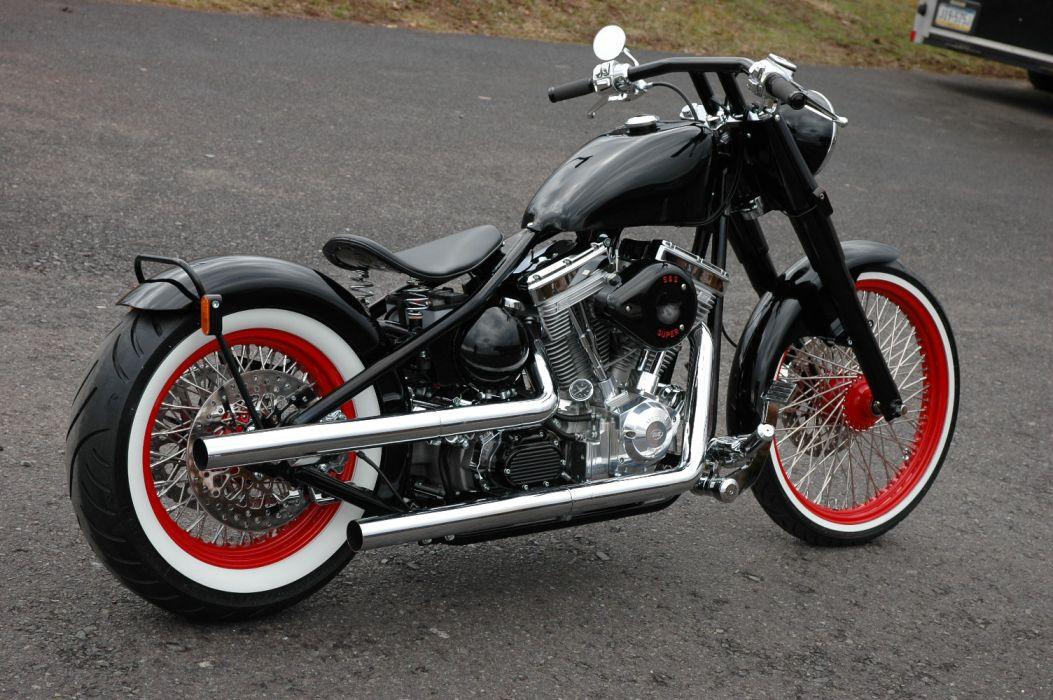 black bike cruiser Harley Davidson retro wallpaper