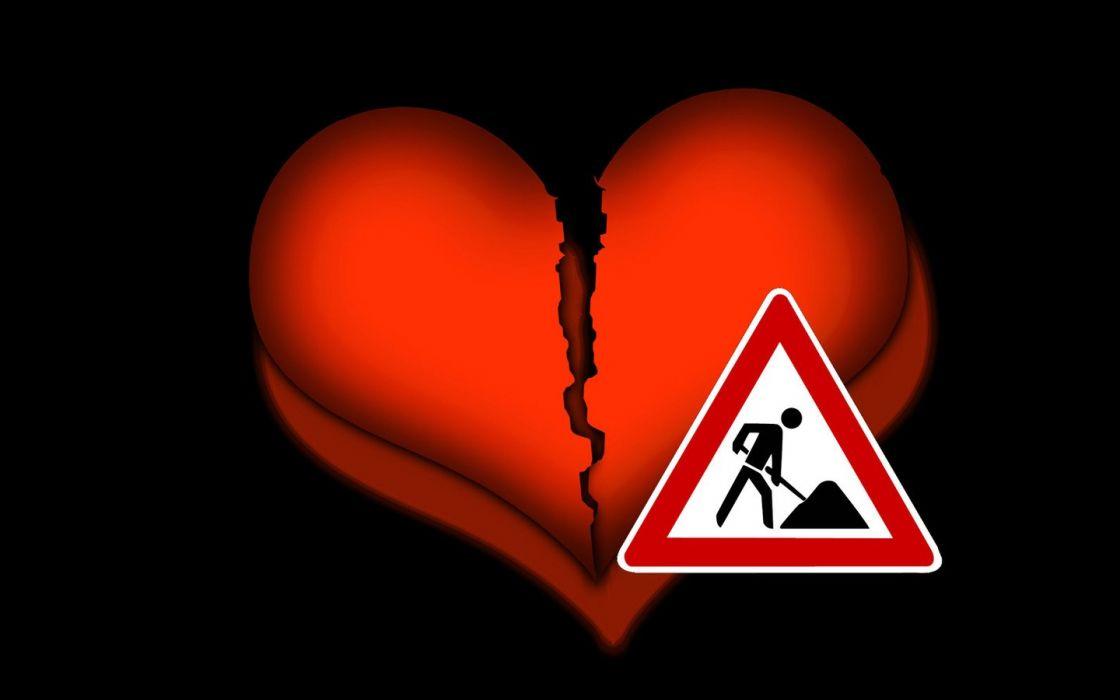 love broken heart romance humor wallpaper