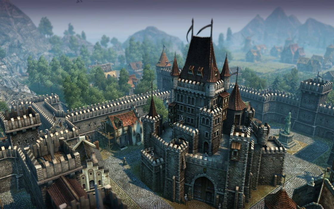 video games minecraft castle wallpaper