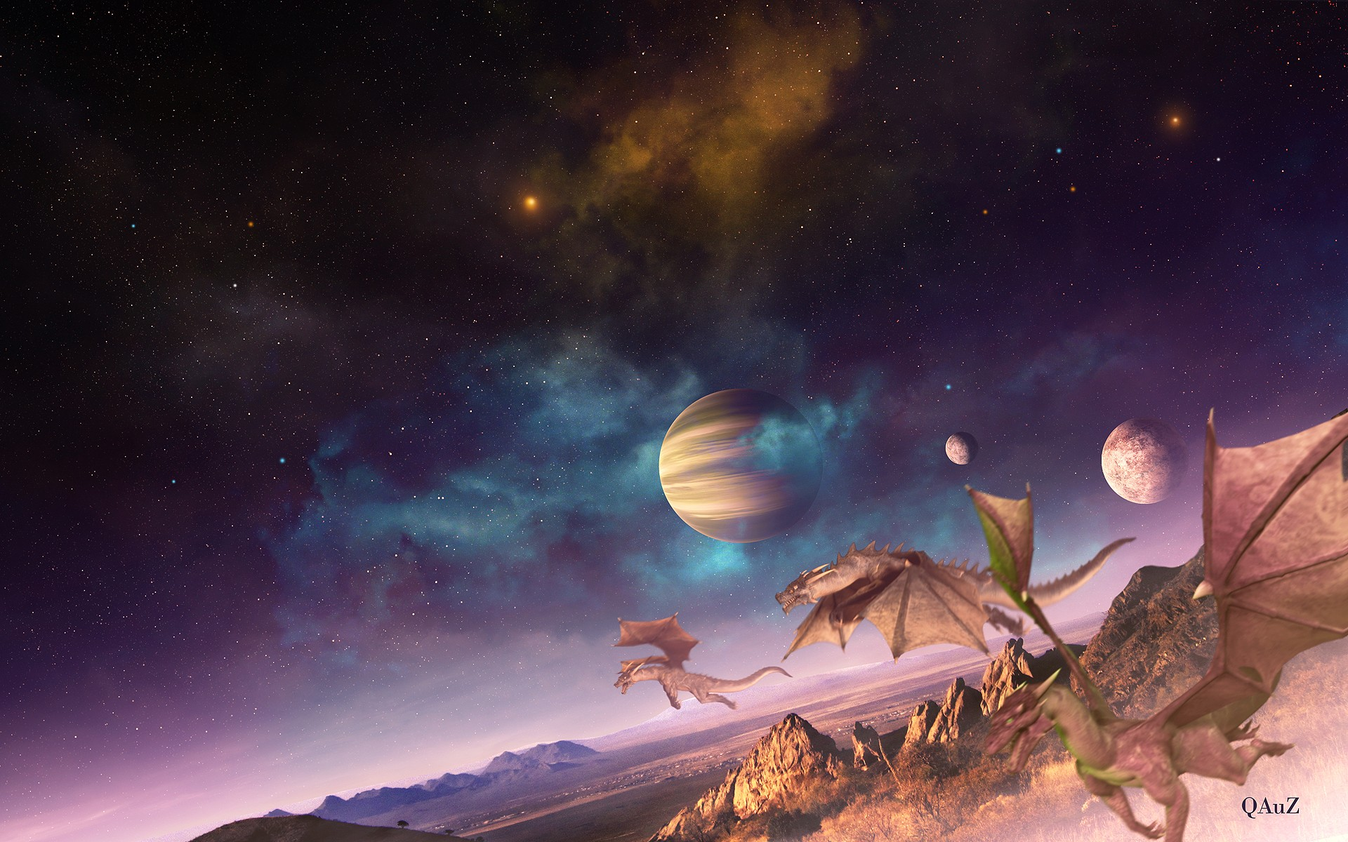 space 1080p wallpaper landscape - photo #41