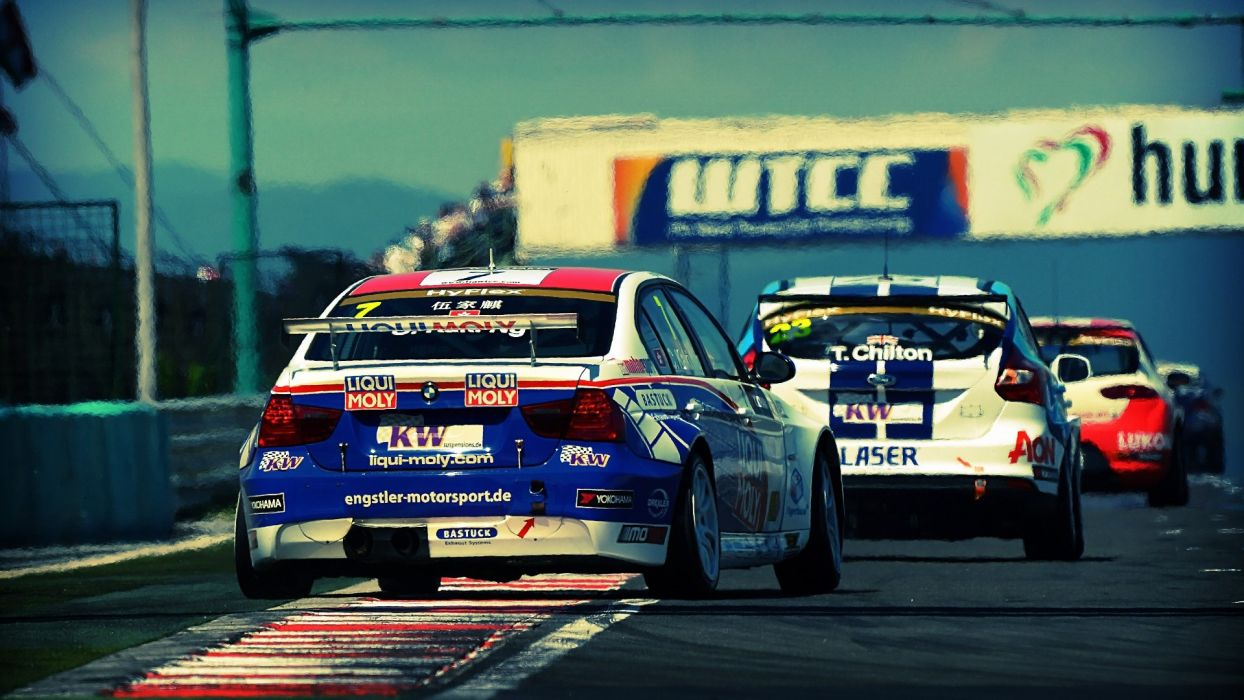 BMW cars sports Ford Seat races wtcc wallpaper