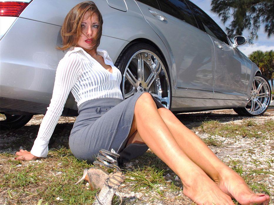 women cars carshow bikini top bikini bridge 2013 Hamann Range Rover Evoque Chiya Qadri wallpaper
