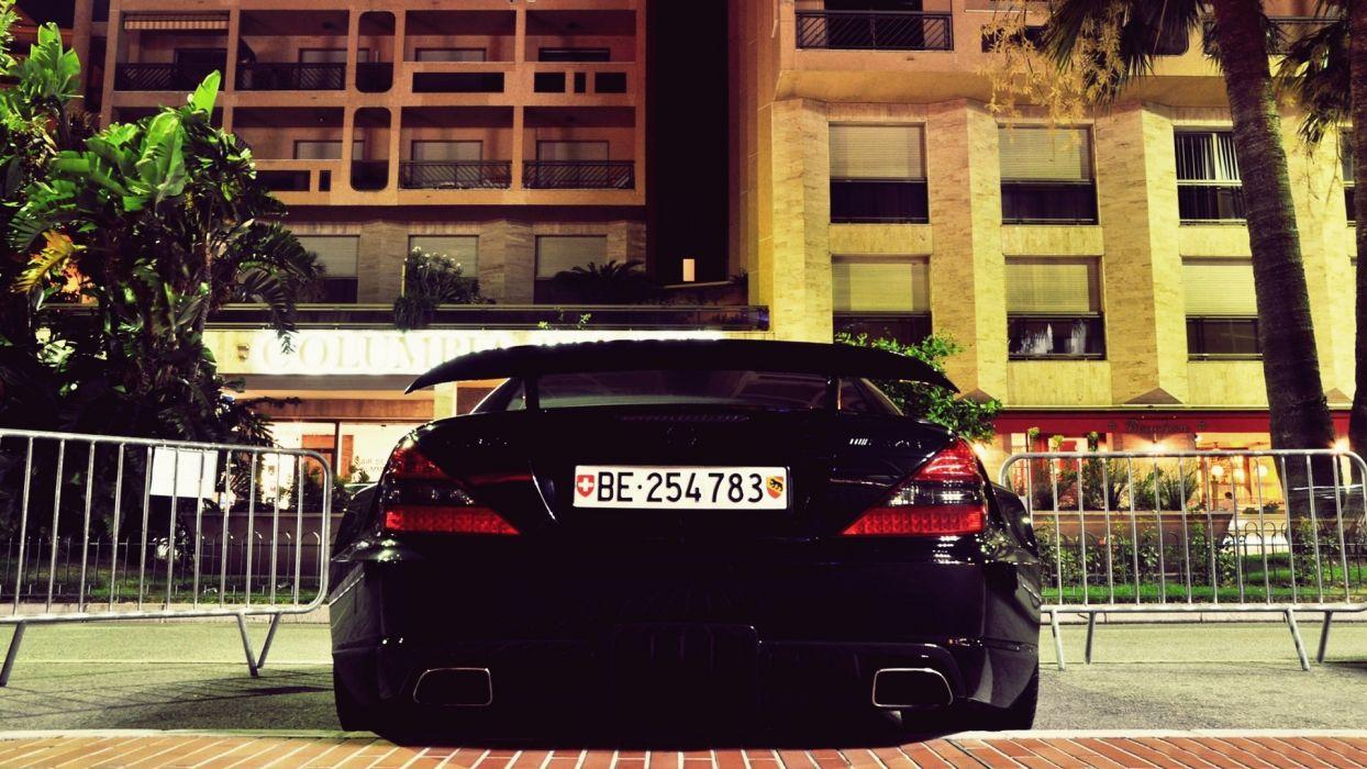 streets cars Mercedes Benz Mercedes Benz SL65 AMG Mercedes Benz SL 65 AMG  mercedes benz sl 65 black series wallpaper