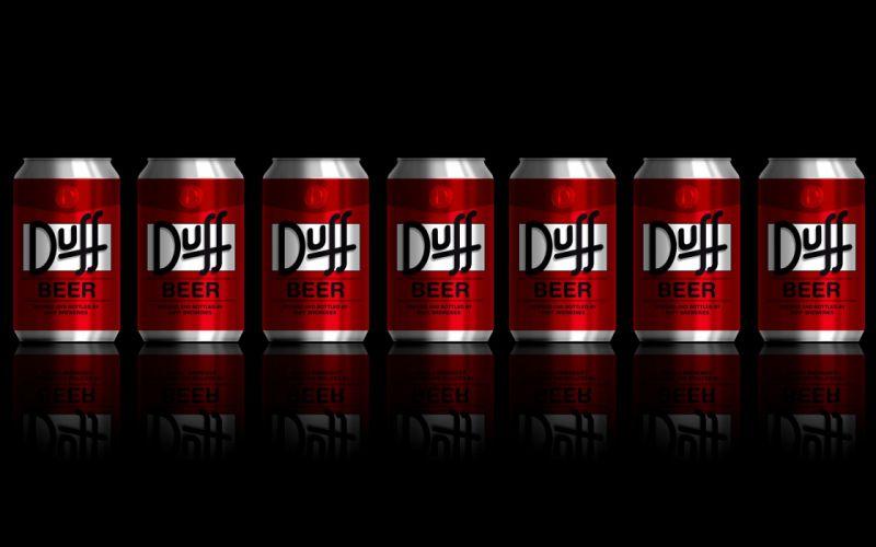 The Simpsons Duff Beer wallpaper