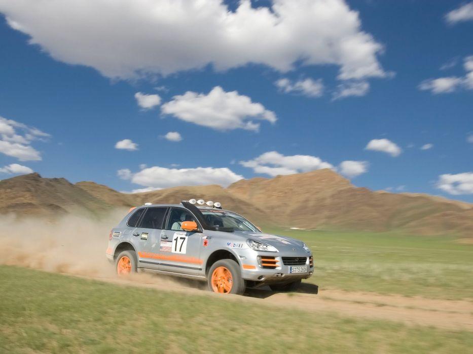 landscapes Porsche cars rally vehicles cayenne wallpaper
