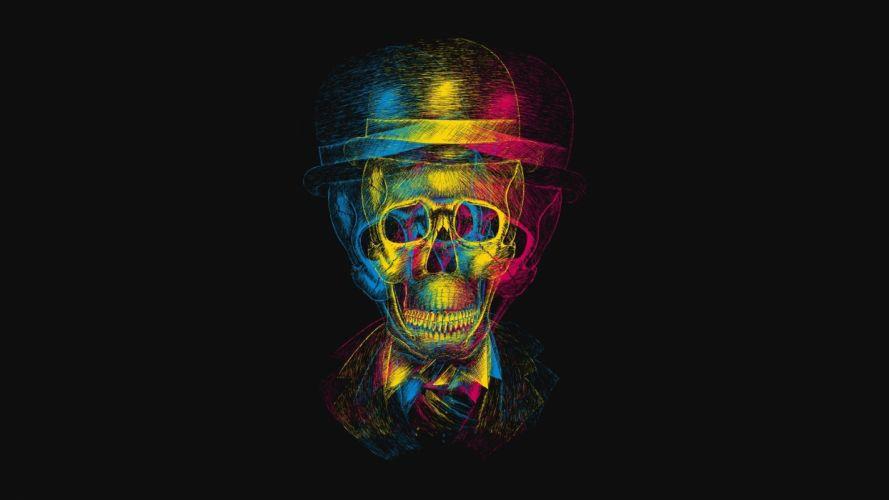 multicolor skeletons wallpaper