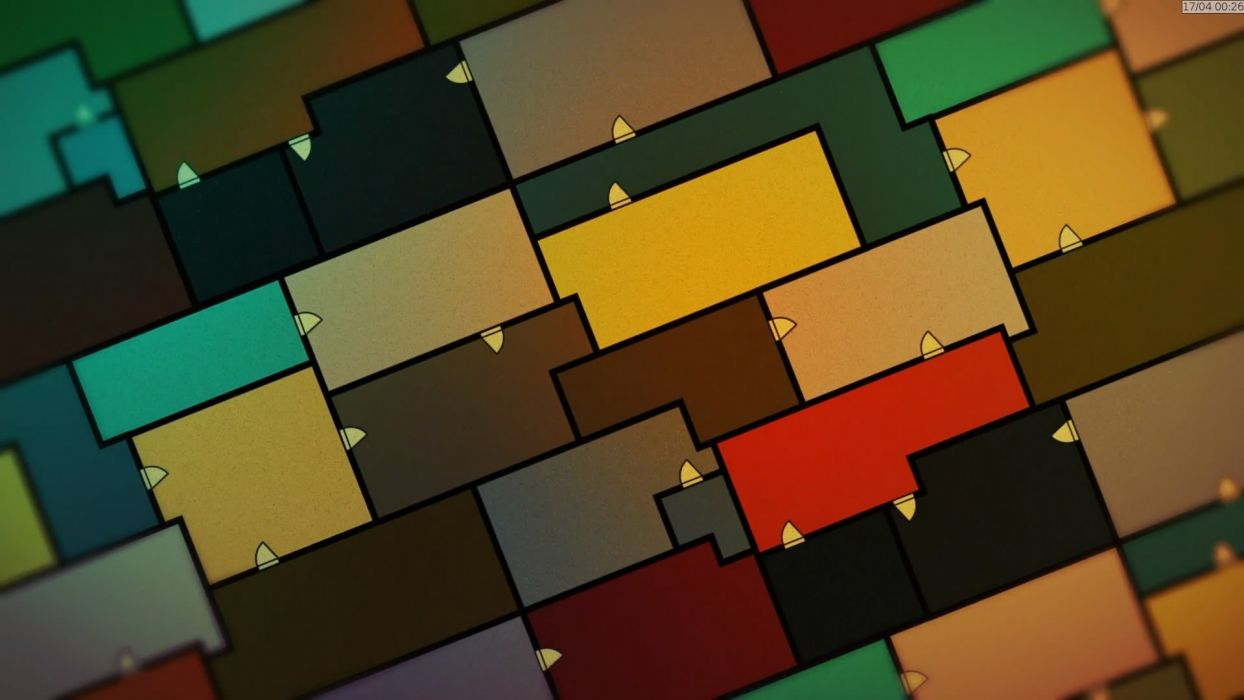 abstract multicolor The Tatami Galaxy rectangles wallpaper