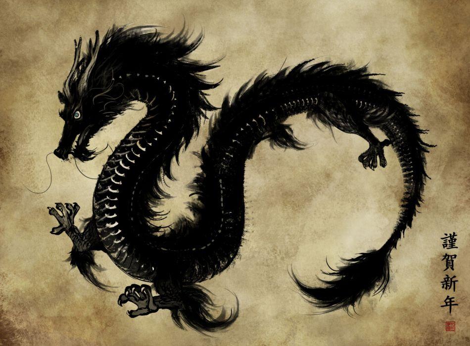 dragons Japanese wallpaper