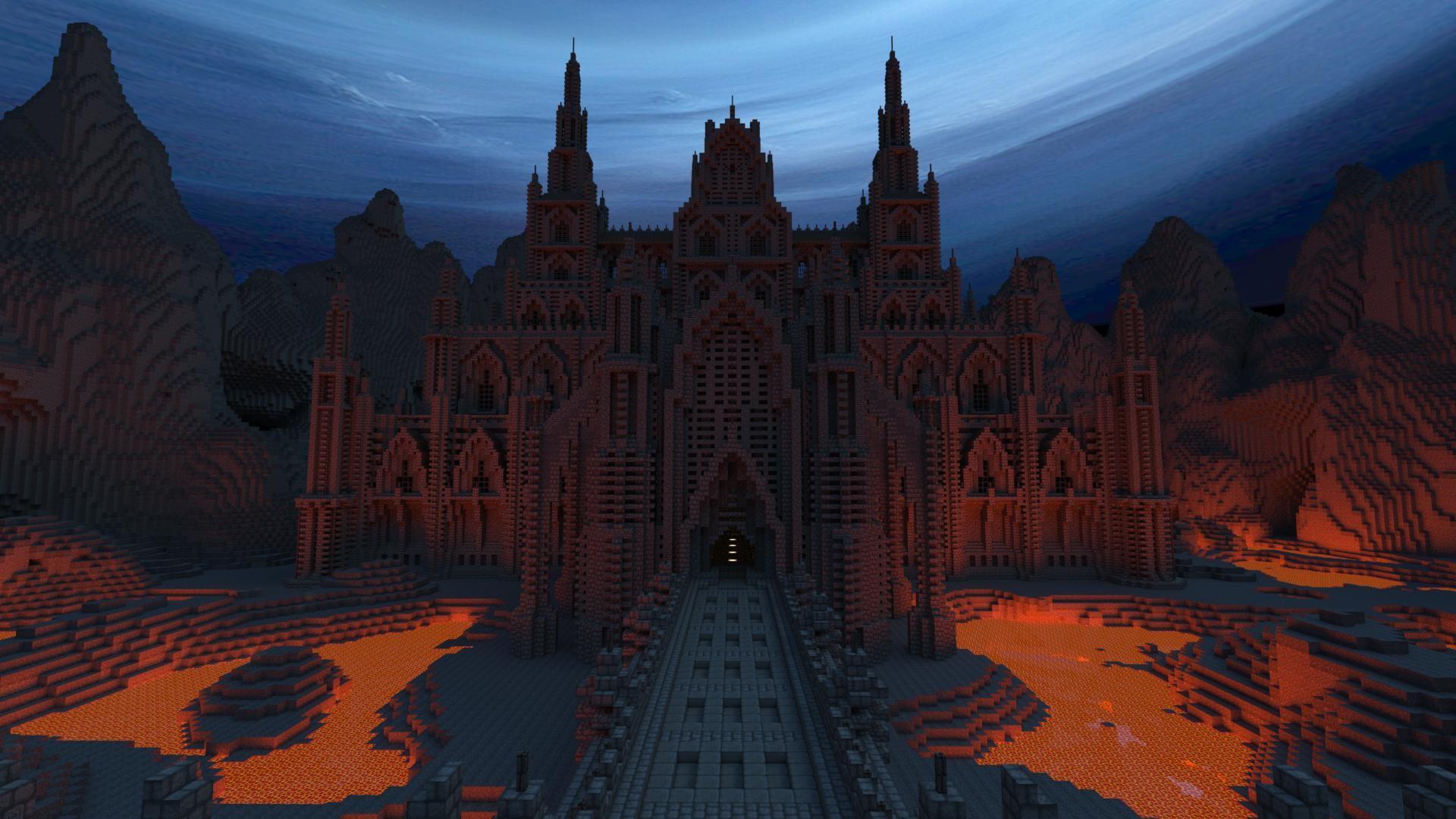 Minecraft netherworld wallpaper background