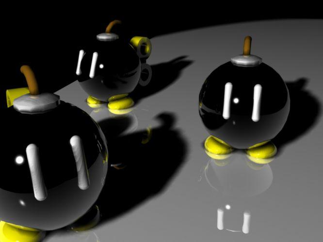bombs digital art Bob-Omb Super Mario Brothers wallpaper
