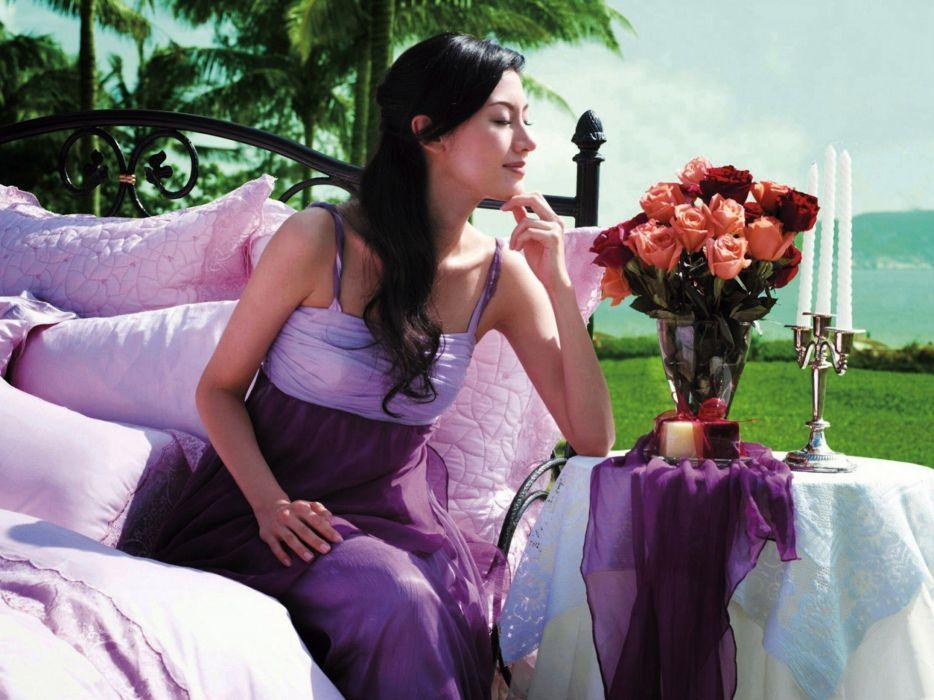 women dress Michelle Reis wallpaper