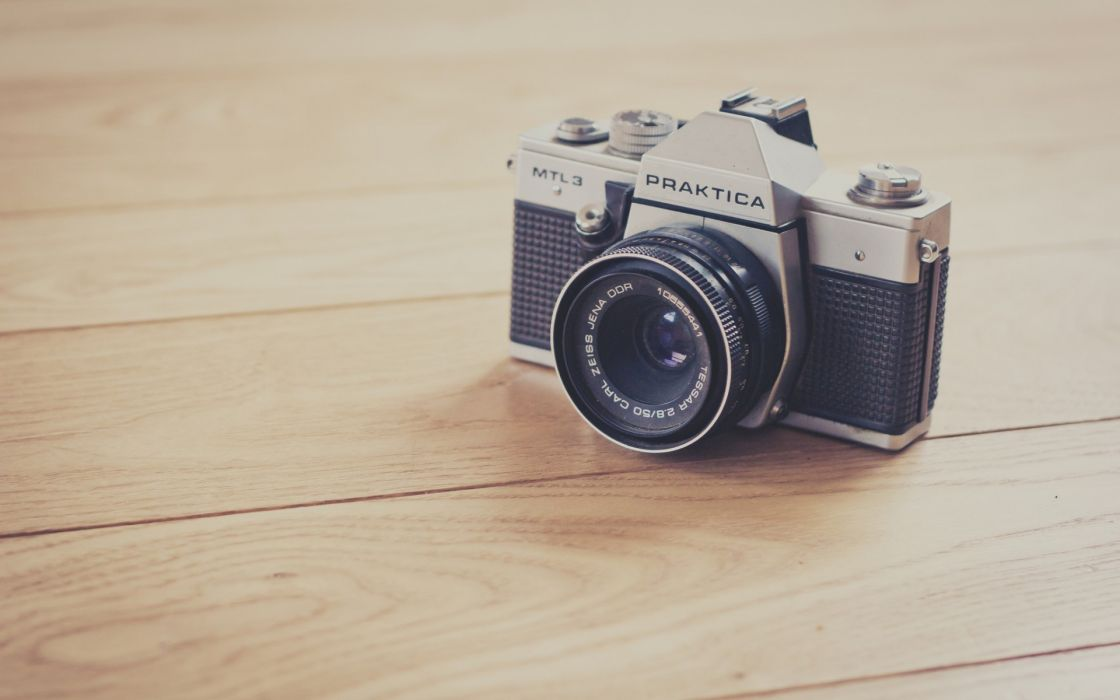 cameras photo camera wooden floor wallpaper