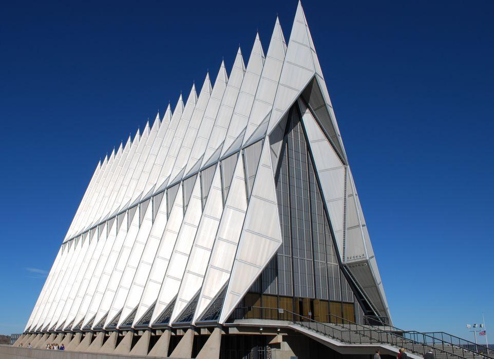 architecture USA chapel air force art deco usafa wallpaper