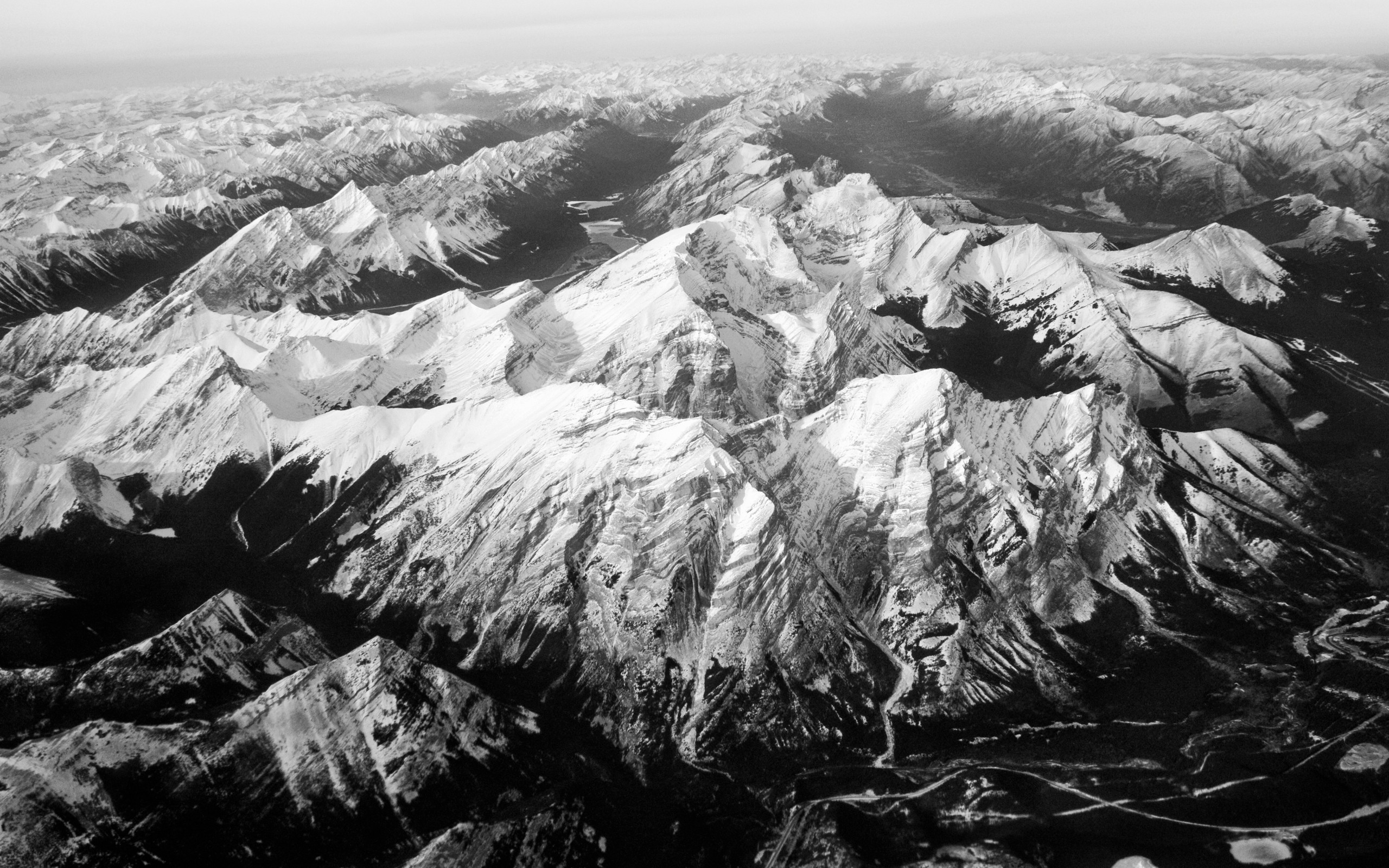 Black And White Mountains Wallpaper 2560x1600 59196 Wallpaperup