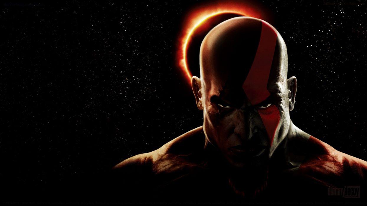 video games eclipse God of War Kratos wallpaper