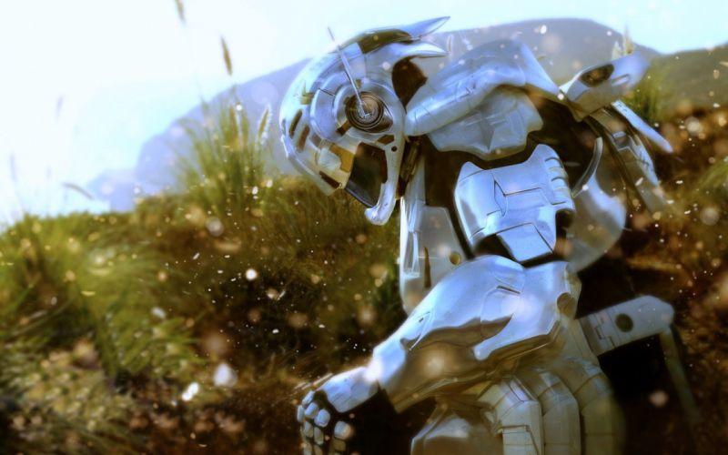 video games futuristic suit Vanquish wallpaper