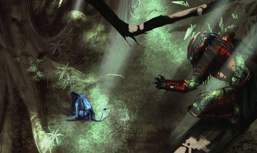 Avatar predator artwork wallpaper