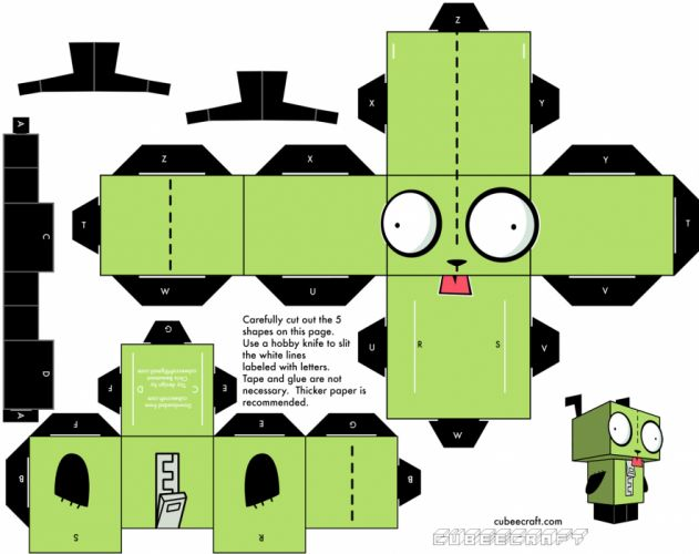 Invader Zim papercraft Gir wallpaper