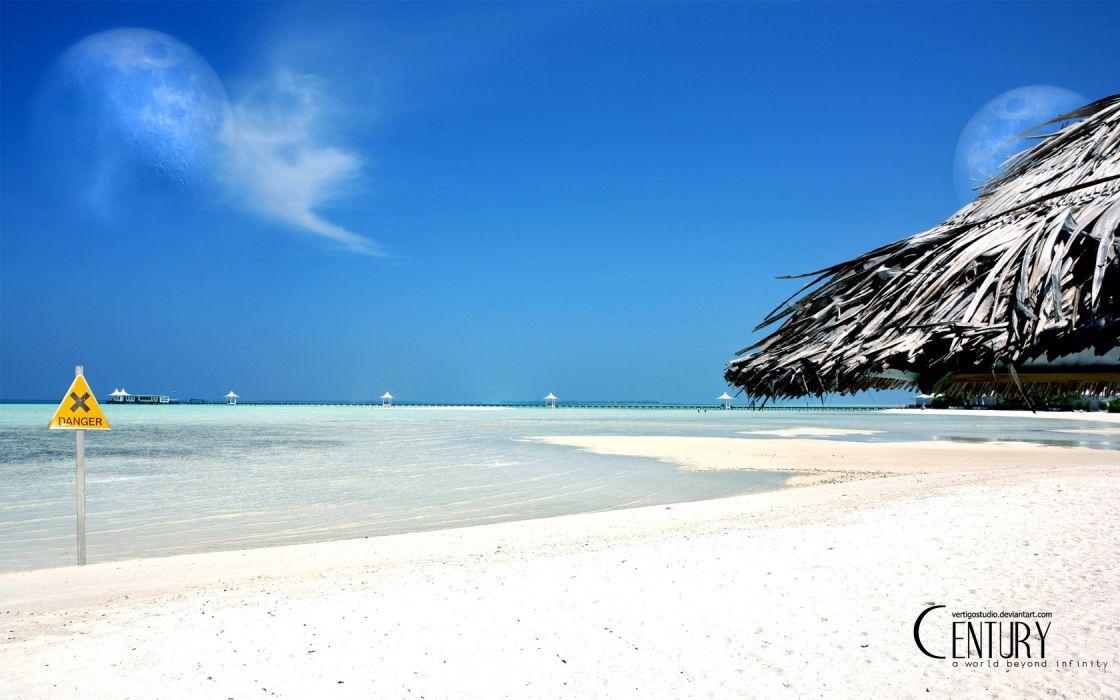 beach tropical sea wallpaper
