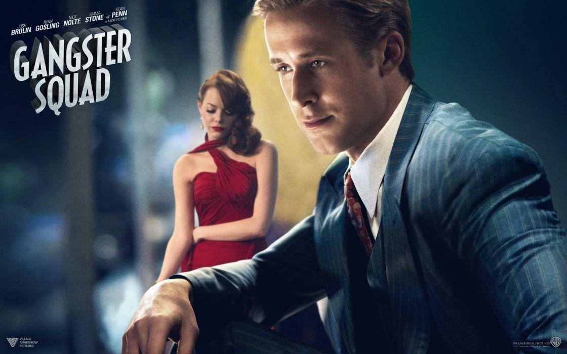 Emma Stone Ryan Gosling Gangster Squad (Movie) wallpaper