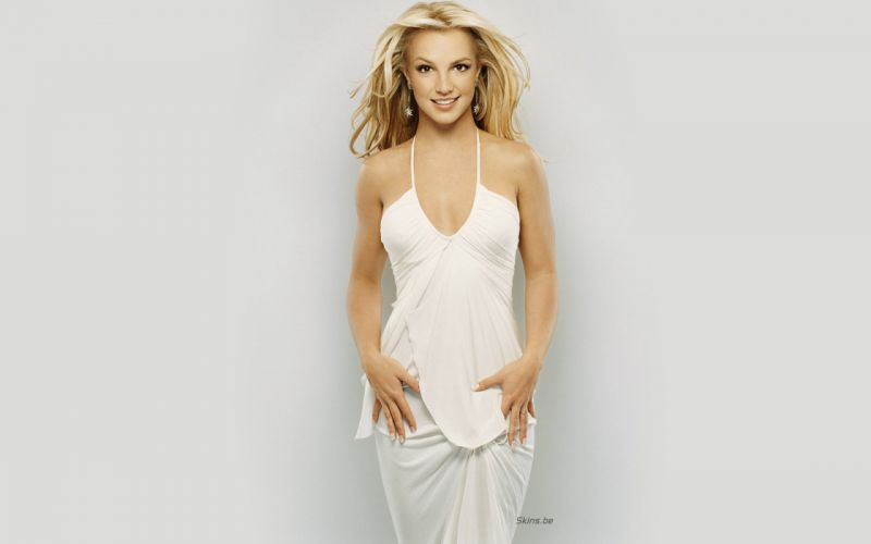 Britney Spears singer musician blondes women females girls sexy babes face eyes cleavage i wallpaper